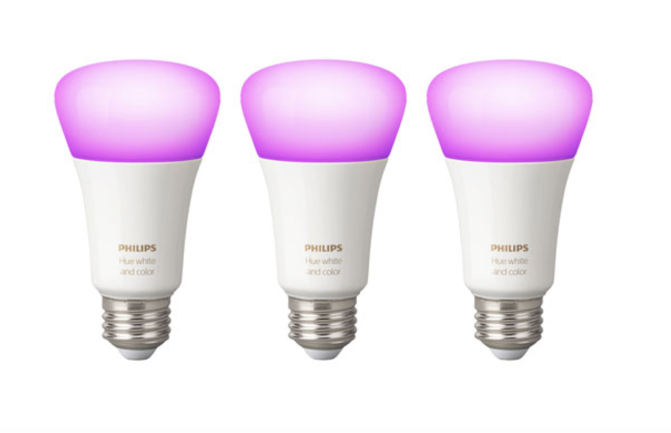 Philips Hue A19 Smart Bluetooth LED Light Bulbs - 3 Pack - White & Colour Ambiance