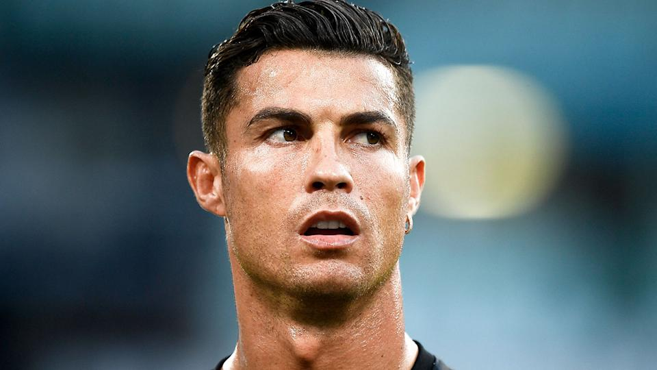 Pictured here, Cristiano Ronaldo looks on during a match for Juventus.