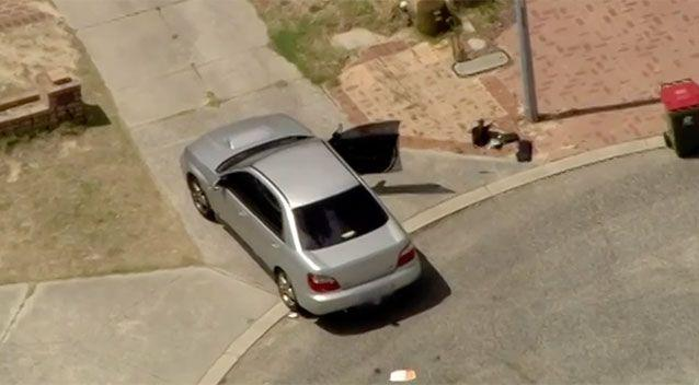 It's alleged Spratt tried to steal this car before running over Marija Karovska. Source: 7 News