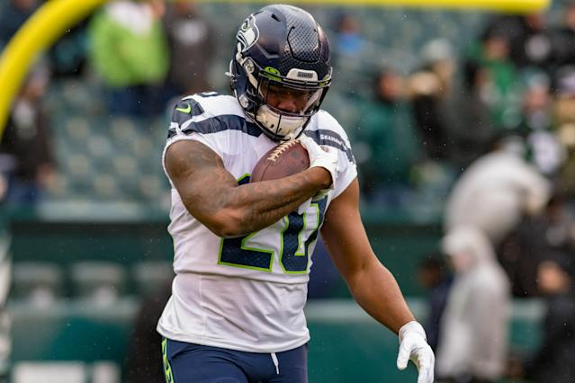 Don't expect much from Rashaad Penny in 2020. (Photo by John Jones/Icon Sportswire via Getty Images)