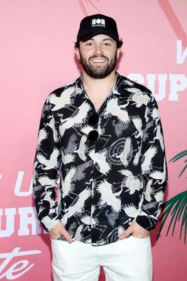 Baker Mayfield at Wheels Up members-only Super Saturday Tailgate event on February 1, 2020 in Wynwood, Miami. The seventh-annual event featured a chalk talk hosted by prominent figures in sports and entertainment and interactive partnership activations. (Getty Images for Wheels Up)