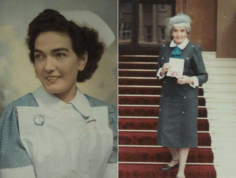Mrs Stevens was awarded an MBE for her services to the NHS (Pictures: SWNS)