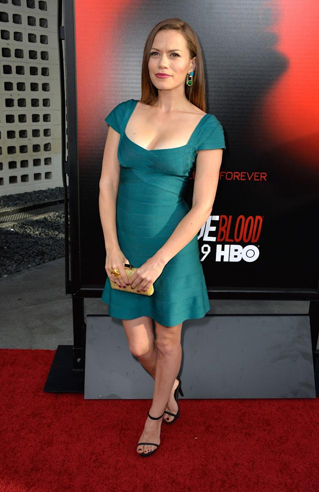 HOLLYWOOD, CA - JUNE 11: Actress Bethany Joy Lenz attends the premiere of HBO's 'True Blood' Season 6 at ArcLight Cinemas Cinerama Dome on June 11, 2013 in Hollywood, California. (Photo by Frazer Harrison/Getty Images)