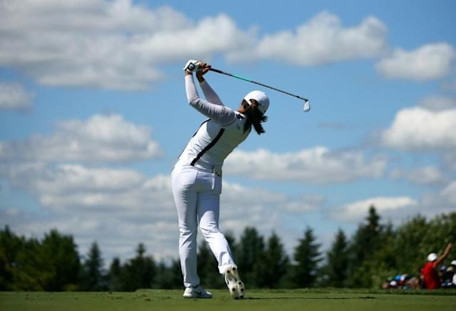 Ko Jin-young stormed to her fourth title of the year with a five-shot win at the Canadian Pacific Women's Open on Sunday (AFP Photo/Vaughn Ridley)