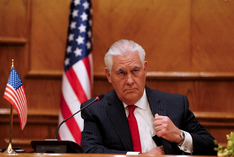 The State Department has spent nothing of $120 million allocated to combat foreign influence in U.S. elections, according to The New York Times. (Muhammad Hamed / Reuters)