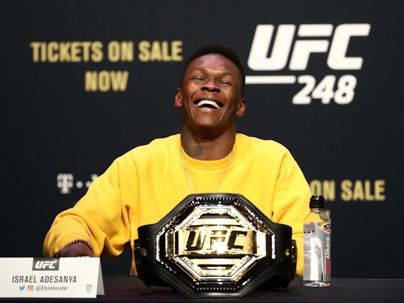 UFC middleweight champion Israel Adesanya has apologised for making a joke about the Twin Towers: Getty
