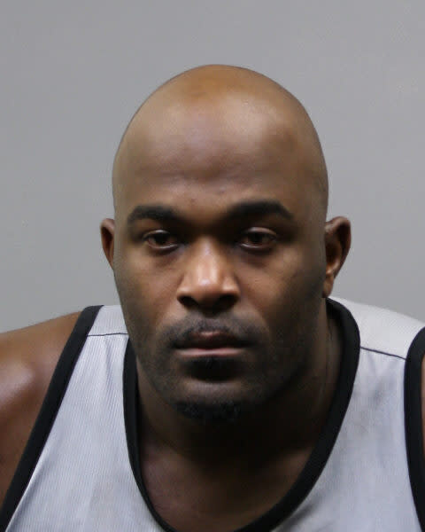 The Wednesday, Aug. 21, 2019 photo provided by the Harris County Sheriff's Office shows Mario Williams. Former Texans star Mario Williams has been arrested on a misdemeanor charge for allegedly trespassing at a woman's Houston-area home. Harris County court records show Williams was arrested early Tuesday and freed on $100 bond. (Harris County Sheriff's Office via AP)