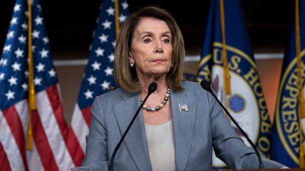PHOTO: Speaker of the House Nancy Pelosi meets with reporters the day after the Democrat-controlled House Judiciary Committee voted to hold Attorney General William Barr in contempt of Congress, at a news conference in Washington, May 9, 2019. (J. Scott Applewhite/AP)