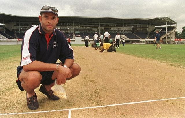 Dean Headley, pictured at Sabina Park, Jamaica, where the stand behind him was named after his grandfather George