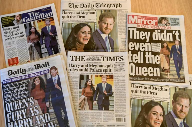 Every British newspaper put the news about Harry and Meghan on their front pages