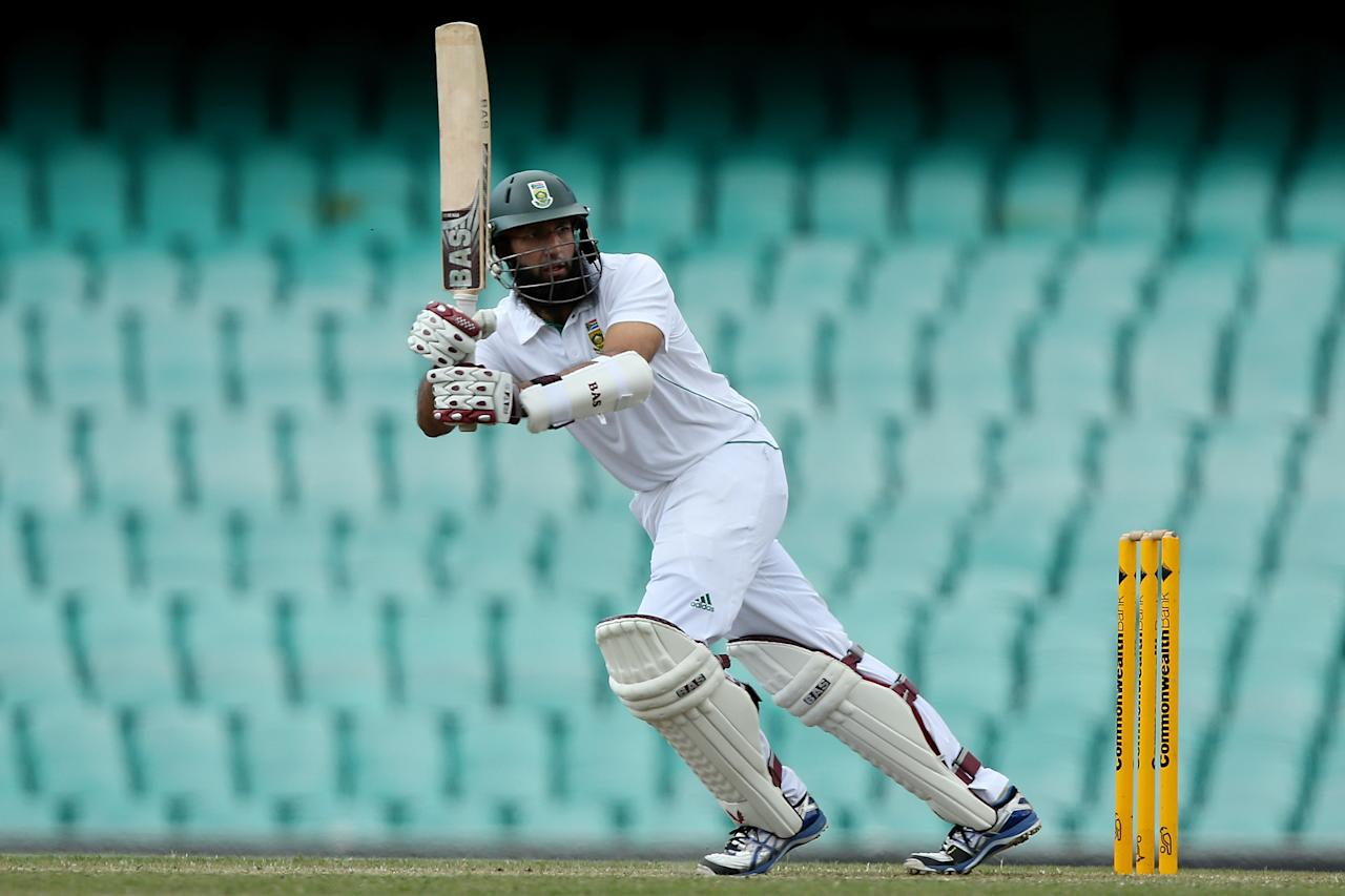 SYDNEY, AUSTRALIA - NOVEMBER 04:  Hashim Amla of South Africa bats during day three of the International Tour Match between Australia A and South Africa at Sydney Cricket Ground on November 4, 2012 in Sydney, Australia.  (Photo by Chris Hyde/Getty Images)
