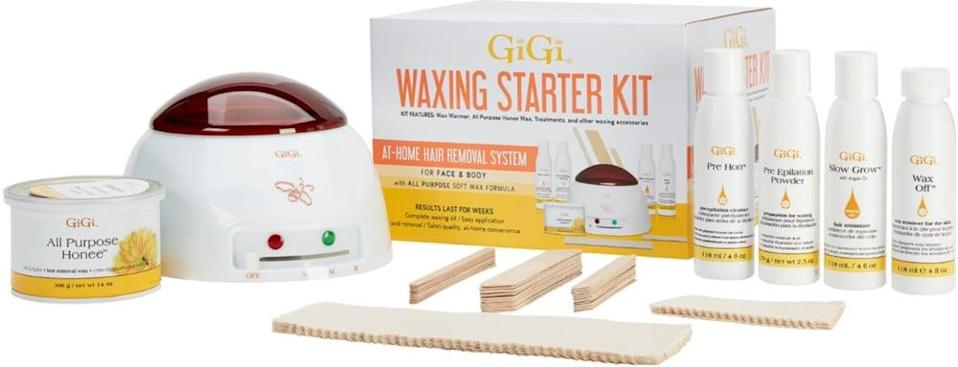 <p>Invest in the <span>Gigi At Home Beginner Waxing Starter Kit</span> ($40, originally $50) and give yourself waxes whenever you want. No more waiting for appointments. </p>
