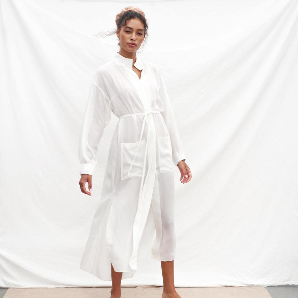 """Soft and ethereal, Lunya's comfy chiffon robe is at the top of our gift list—both to give and get. Honestly, we can think of so many reasons why we love it, but the fact that it looks like it belongs in a dreamy Sofia Coppola movie is enough for us. $298, Lunya. <a href=""""https://www.lunya.co/collections/new-arrivals/products/prima-silk-chiffon-robe?variant=31979602608171"""" rel=""""nofollow noopener"""" target=""""_blank"""" data-ylk=""""slk:Get it now!"""" class=""""link rapid-noclick-resp"""">Get it now!</a>"""