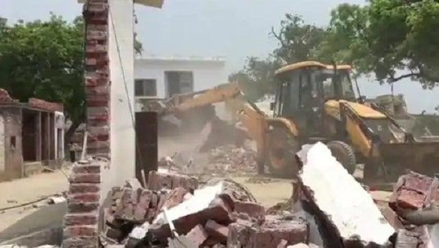 Two days after Vikas Dubey's men kills 8 cops, Kanpur administration bulldozes gangster's mansion, destroys his cars