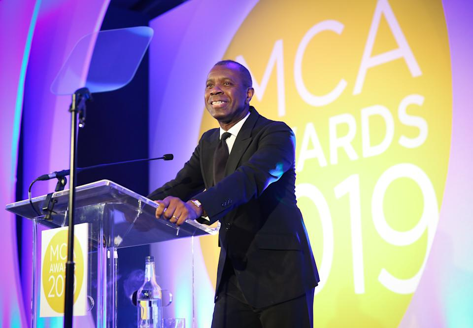 EDITORIAL USE ONLY Newsreader Clive Myrie hosts the Management Consultancies Association (MCA) awards at the Park Plaza Westminster in London.
