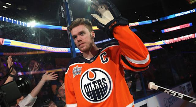 "With the Oilers' season not going as planned, <a class=""link rapid-noclick-resp"" href=""/nhl/players/6743/"" data-ylk=""slk:Connor McDavid"">Connor McDavid</a> was heckled by some fans in Edmonton (Photo by Dave Sandford/NHLI via Getty Images)"