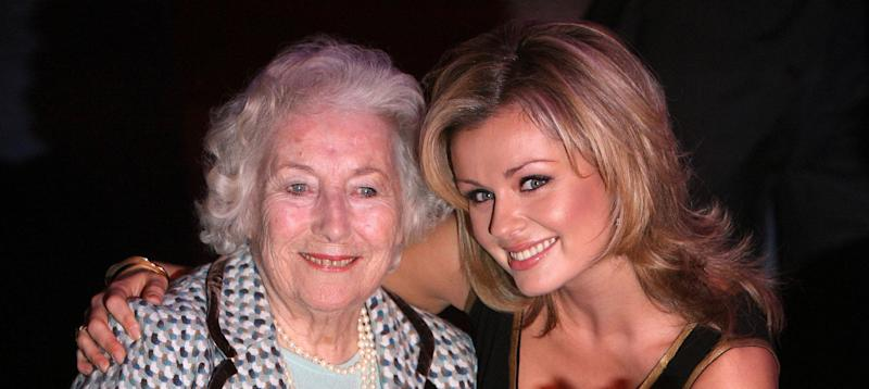 Current Forces Sweetheart Katherine Jenkins (right) and Dame Vera Lynn celebrate her 90th birthday at the Imperial War Museum in London.