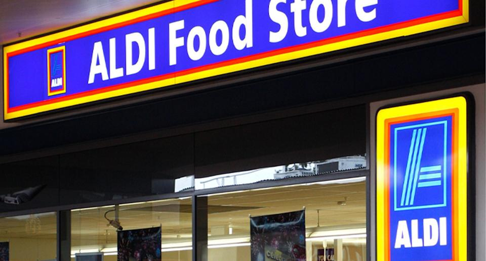An Aldi store is pictured.