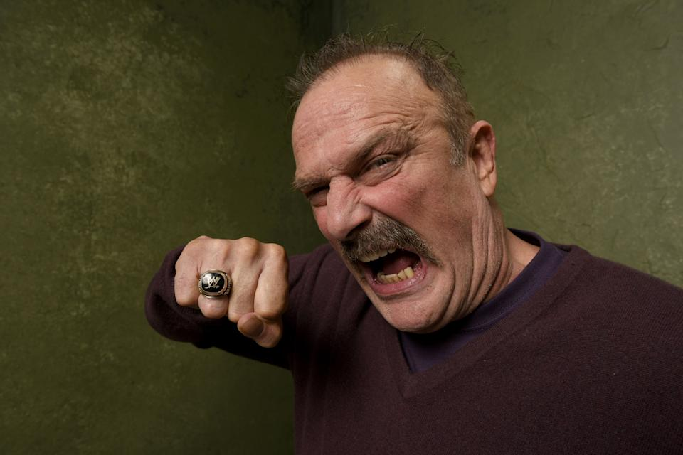 "PARK CITY, UT - JANUARY 23:  Wrestler Jake ""The Snake"" Roberts from ""The Resurrection of Jake The Snake Roberts"" poses for a portrait at the Village at the Lift Presented by McDonald's McCafe during the 2015 Sundance Film Festival on January 23, 2015 in Park City, Utah.  (Photo by Larry Busacca/Getty Images)"