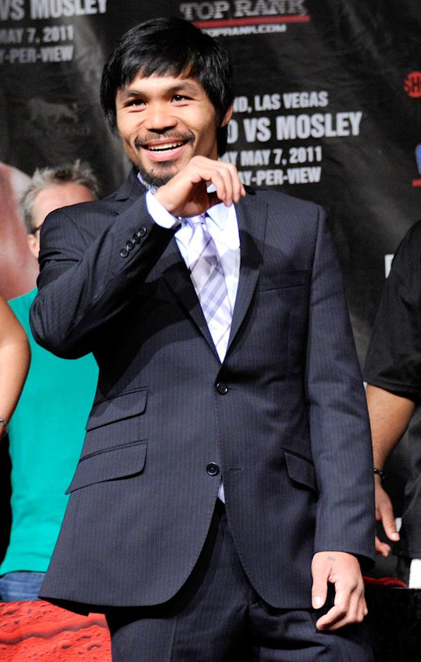 Boxer Manny Pacquiao turns 33 on December 17.