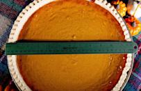 <p>Each pie weighs a whopping 58 ounces — which is more than 3.5 pounds — and is a full foot in diameter.</p>