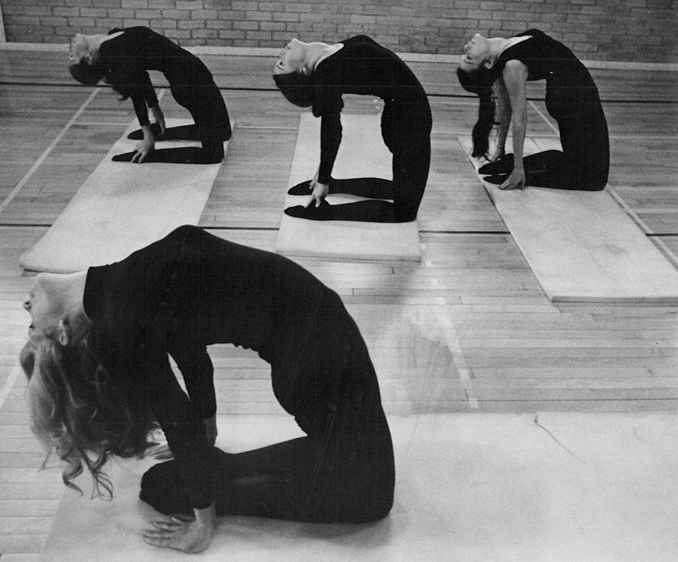<p>In the 1970s, flexibility was stressed to health conscious people as a way to lead a healthier life.</p>
