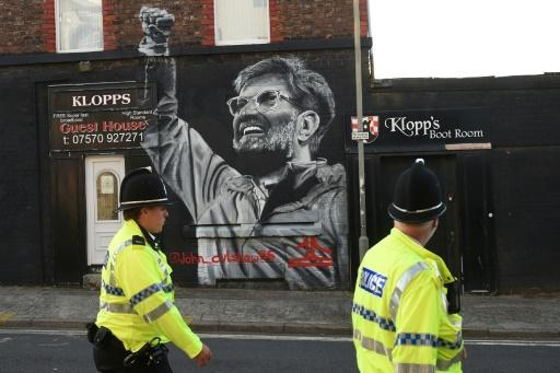 A mural of Liverpool manager Jurgen Klopp in the city