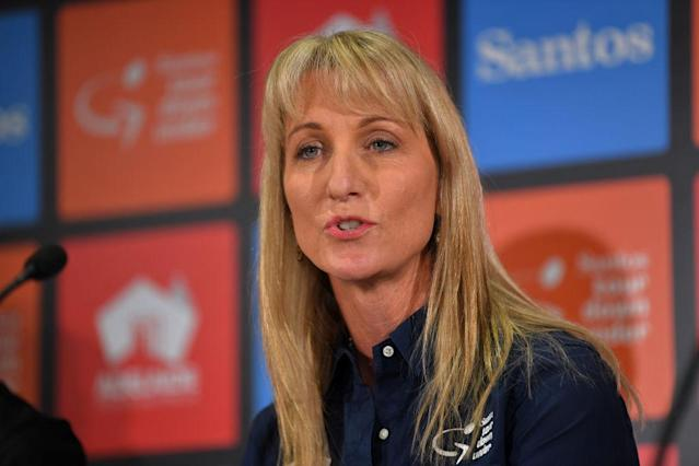 Women's Tour Down Under race director Kimberley Conte at the 2020 pre-race press conference