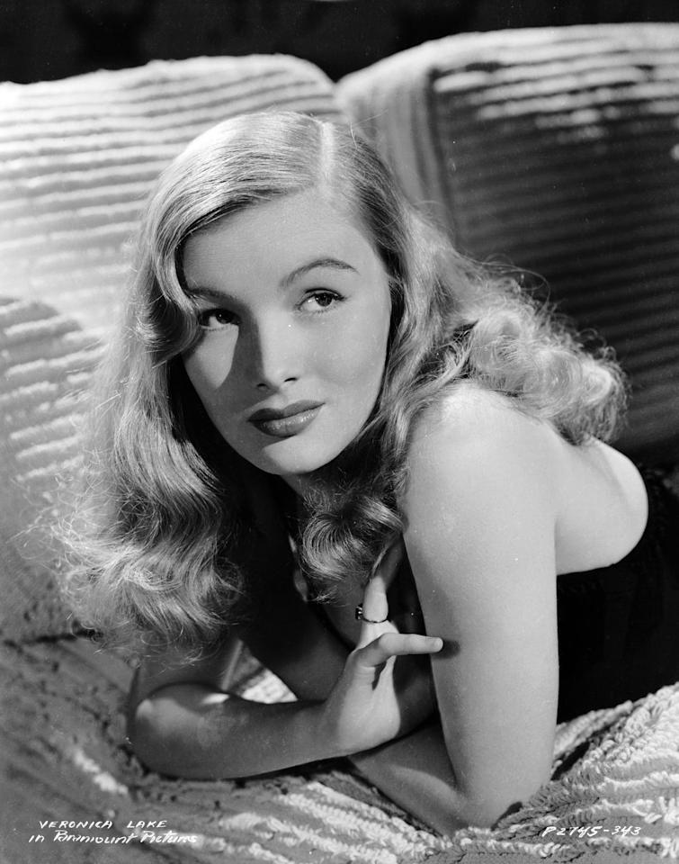 <p>1940's movie star Veronica Lake was known for her long, soft blonde waves, which are now basically the definition of Old Hollywood glamour. The look, complete with a deep side part, is still copied even today. </p>