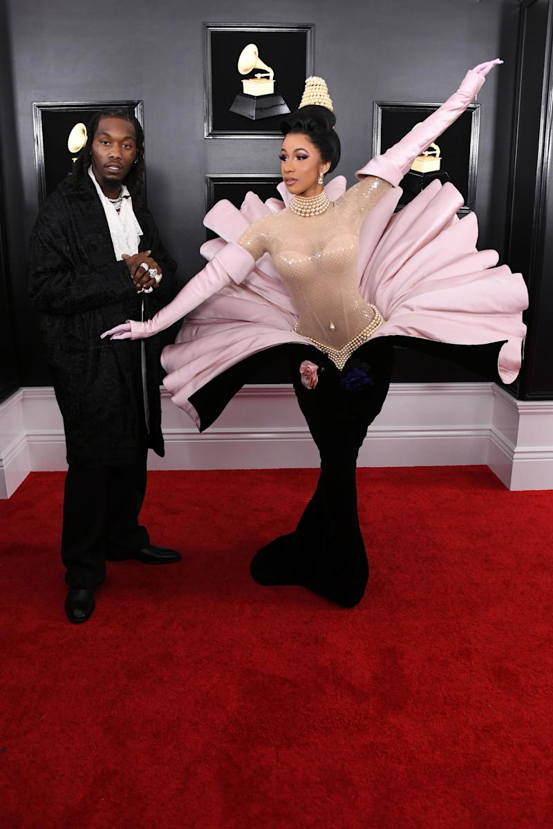 We will be talking about this vintage Mugler dress for YEARS. Thank you, Cardi.