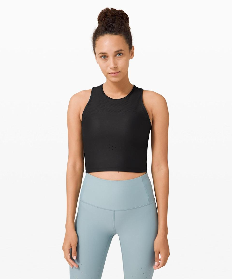 <p>This <span>Lululemon Zoned In Tank Top</span> ($68) is so breathable and easy to throw on and go. If you like something that's more skintight, this is a great option for short or long runs.</p>