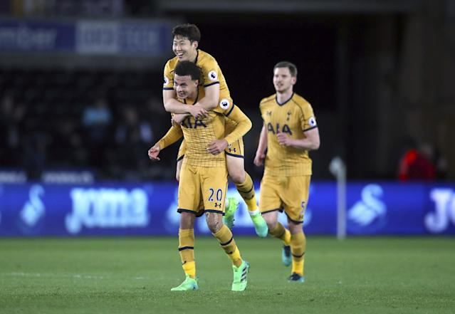 Tottenham survived a scare to win at Swansea