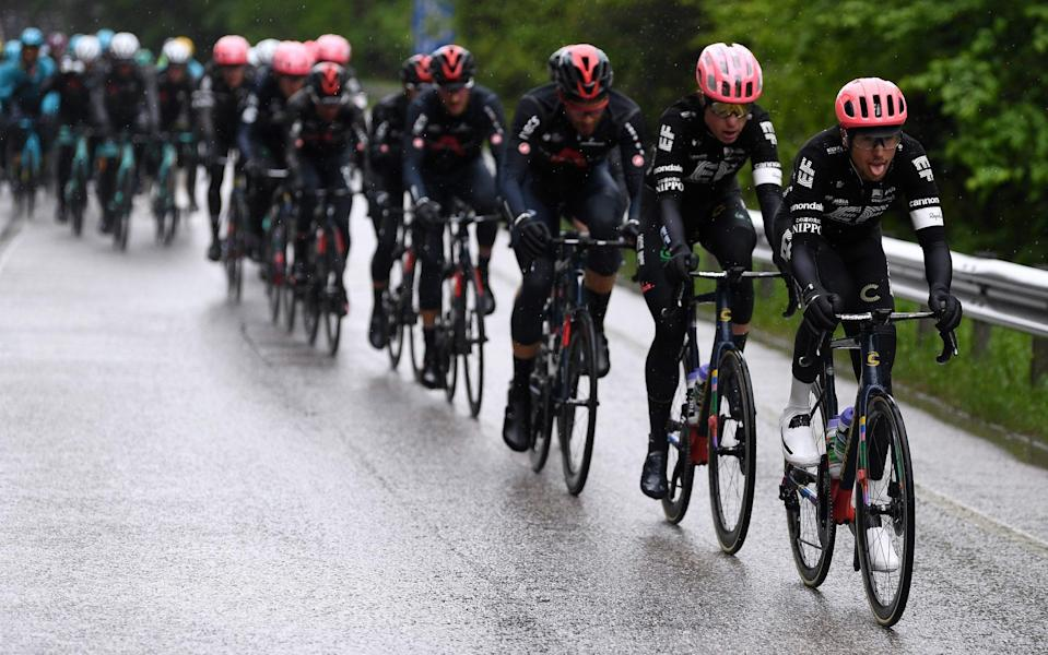 EF Education-Nippo ride on the front of the peloton - GETTY IMAGES