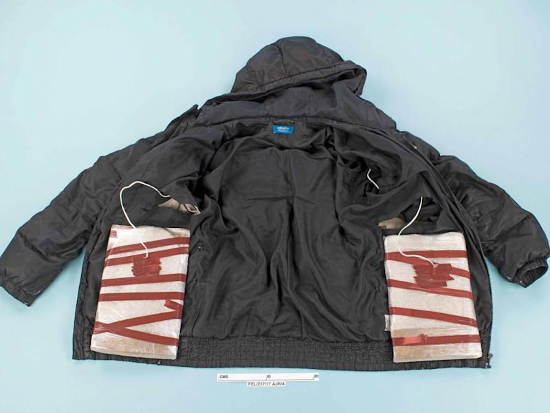 A fake suicide jacket given to Naa'imur Zakariyah Rahman, which he was carrying when he was arrested in November 2017 (Metropolitan Police)