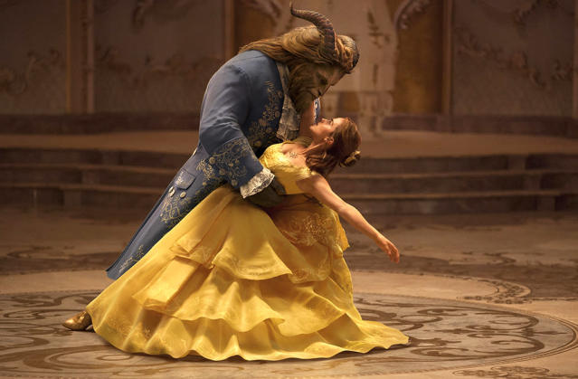 """<p>Disney dusted off that tale as old as time, <a href=""""https://www.yahoo.com/movies/10-beauty-and-the-beast-plot-holes-solved-by-the-remake-154458284.html?soc_src=mail&soc_trk=ma"""" data-ylk=""""slk:added some welcome new bits;outcm:mb_qualified_link;_E:mb_qualified_link"""" class=""""link rapid-noclick-resp newsroom-embed-article"""">added some welcome new bits</a>, and delivered <a href=""""https://www.yahoo.com/movies/beauty-beast-visual-effects-producer-shares-inside-dish-guest-165924523.html?soc_src=mail&soc_trk=ma"""" data-ylk=""""slk:a live-action spectacle with a CGI sheen;outcm:mb_qualified_link;_E:mb_qualified_link"""" class=""""link rapid-noclick-resp newsroom-embed-article"""">a live-action spectacle with a CGI sheen</a>. Emma Watson and Dan Stevens lead an A-list ensemble through the requisite songs (<a href=""""https://www.yahoo.com/movies/watch-beauty-and-the-beast-composer-alan-menken-preview-the-3-new-songs-he-wrote-for-the-live-action-movie-124345439.html?soc_src=mail&soc_trk=ma"""" data-ylk=""""slk:along with a few new ones;outcm:mb_qualified_link;_E:mb_qualified_link"""" class=""""link rapid-noclick-resp newsroom-embed-article"""">along with a few new ones</a>), showing once again that the Mouse House's cartoon catalog is ripe for rebooting. —<i>Marcus Errico</i> (Photo: Disney)<br><br></p>"""