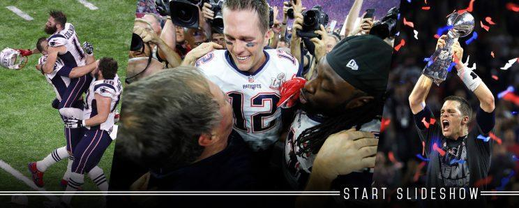 da07ad231 Watch Tom Brady s panicked reaction when he suspects his jersey is stolen  after Super Bowl LI