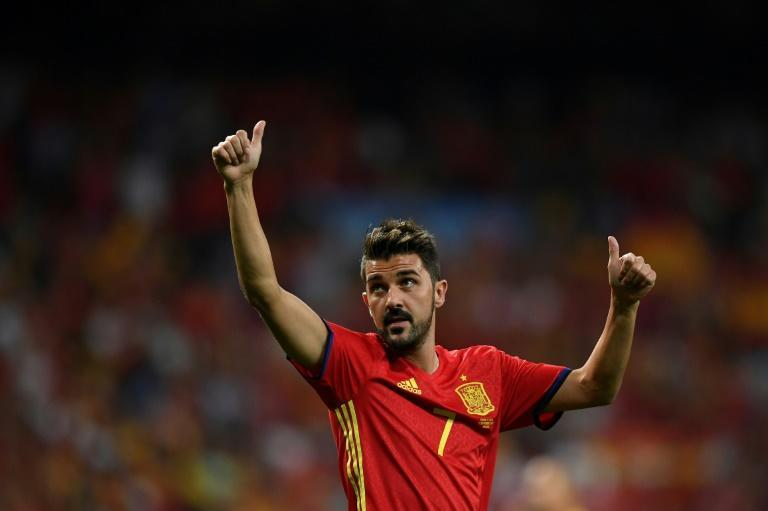 """David Villa, shown here in 2018 while playing for Spain, said allegations that he harassed a New York City FC intern when he played there from 2015-18 are """"completely false"""""""
