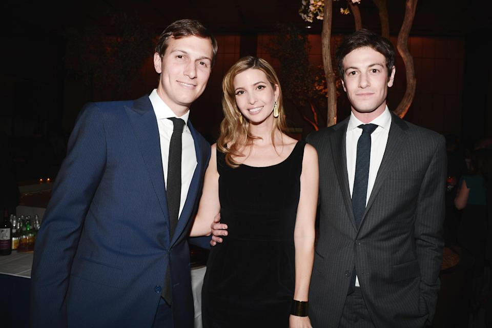 Ivanka Trump with husband Jared, left, and his newly engaged brother, Joshua, in 2013. (Photo: Patrick McMullan/Patrick McMullan via Getty Images)