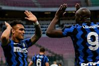 Romelu Lukaku (R) and Lautaro Martinez (L) powered Inter Milan's front line this season.