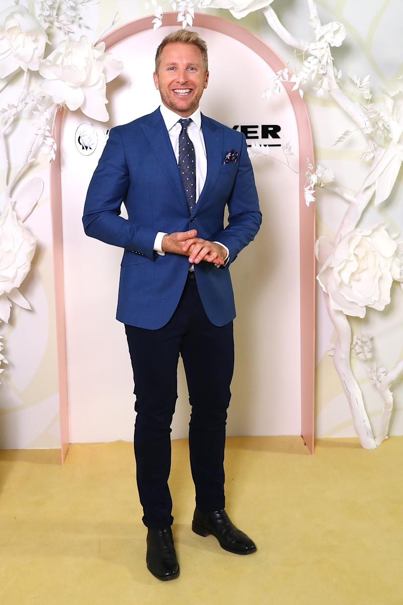 Hamish Macdonald attends the Myer Spring Fashion Lunch at Flemington Racecourse on September 12, 2019 in Melbourne, Australia.