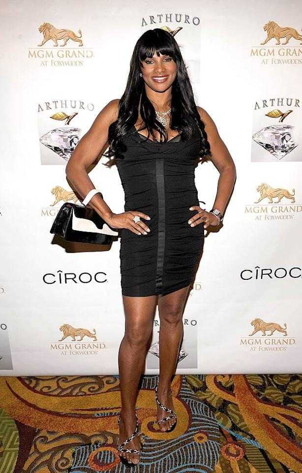 "Sandra ""Pepa"" Denton's LBD is definitely more appropriate for the red carpet. Larry Busacca/<a href=""http://www.wireimage.com"" target=""new"">WireImage.com</a> - May 17, 2008"