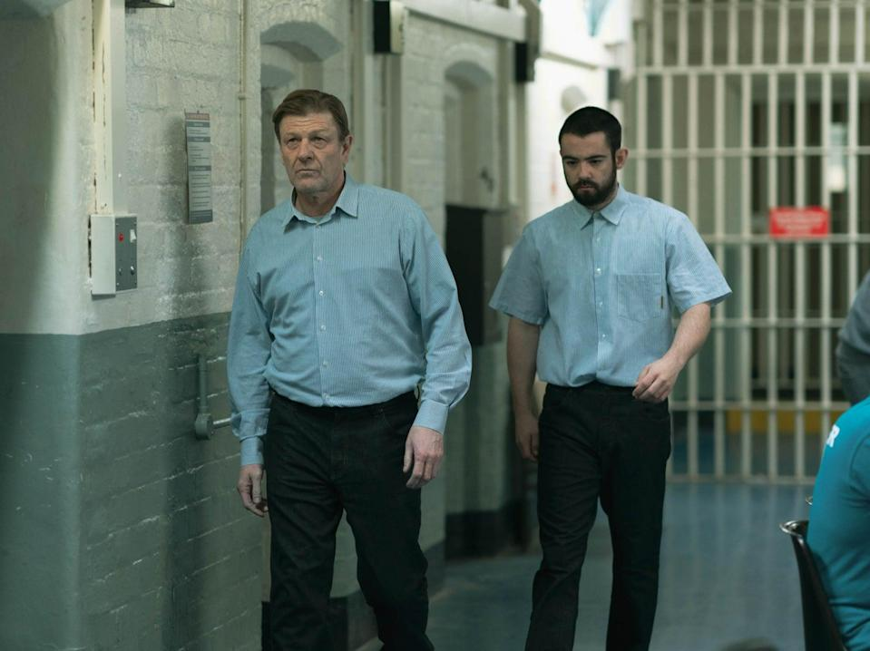 Behind bars: Sean Bean and Jack McMullen in 'Time' (BBC/James Stack)