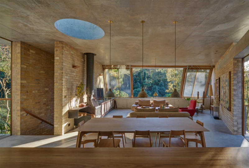 The panel praised the 2018 Australian House of the Year for its practical yet stylish details including circular skylights