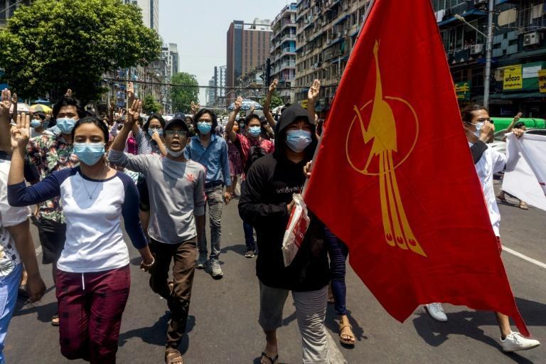People in Myanmar continue to protest against the junta