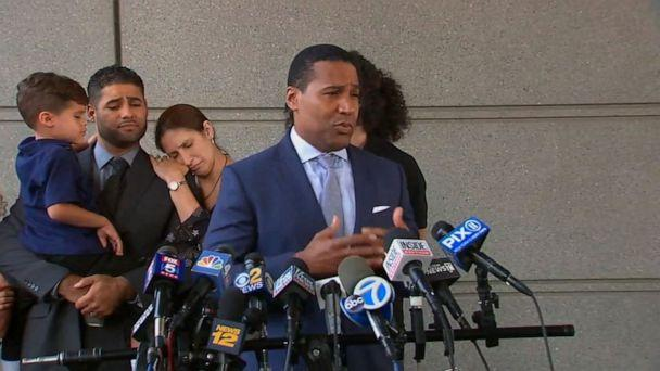 PHOTO: Still from footage of the press conference about Juan Rodriguez and his court decision, August 1, 2019. (ABC News)