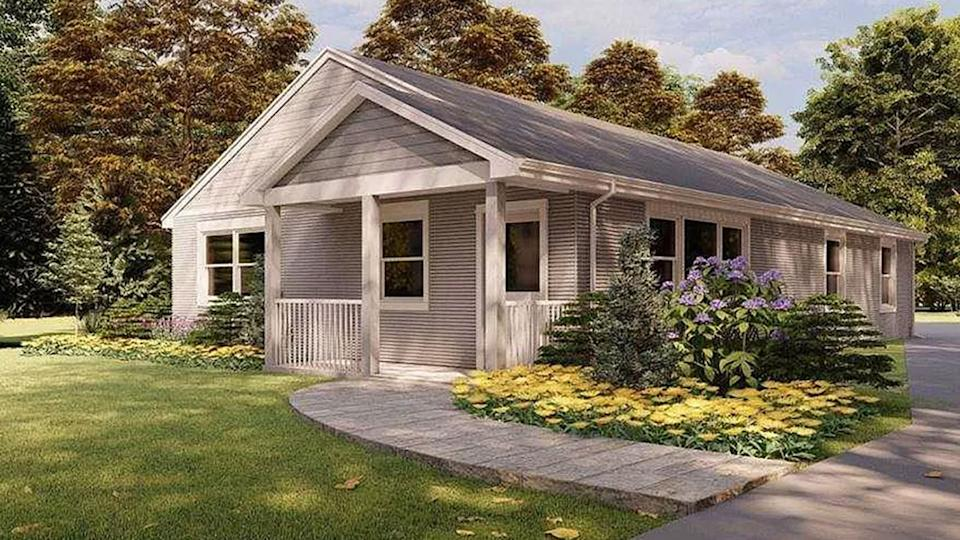 The first home constructed using a 3D printer has hit the market in the US. Source:  Zillow/SQ4D