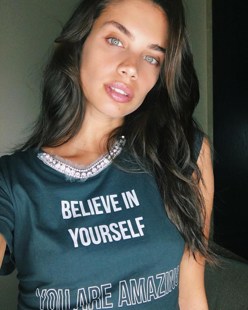 Victoria's Secret Angel Sara Sampaio is all about strengthening and toning at her favorite New York gym, SLT NYC.