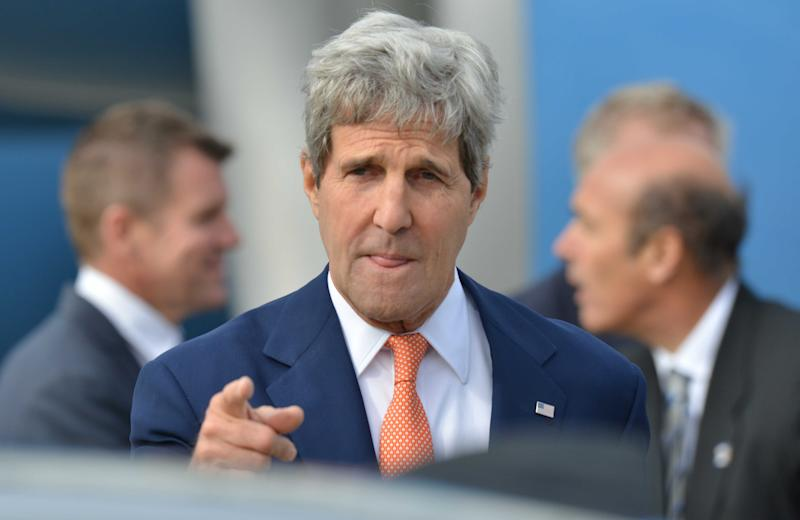 US Secretary of State John Kerry arrives in Sydney on August 11, 2014
