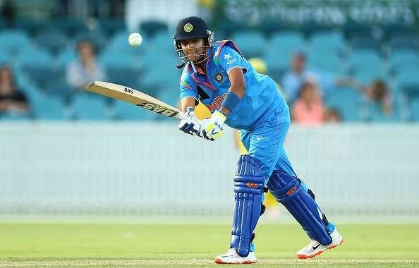 CANBERRA, AUSTRALIA - FEBRUARY 02: Harmanpreet Kaur of India bats during game one of the Women's ODI series between Australia and India at Manuka Oval on February 2, 2016 in Canberra, Australia. (Photo by Mark Nolan/Getty Images)