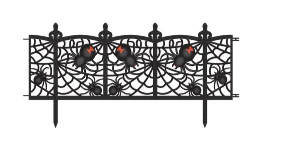Spider Fence Halloween Decorations, $14.95 for 2